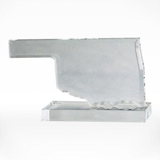Oklahoma-shaped acrylic award.