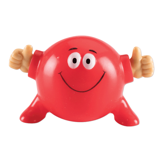 Red Poppin Pal giving two thumbs up.