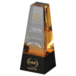 Engraved Radiance crystal award.