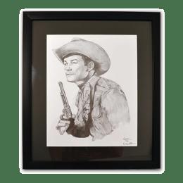 Framed poster of Roy Rogers.