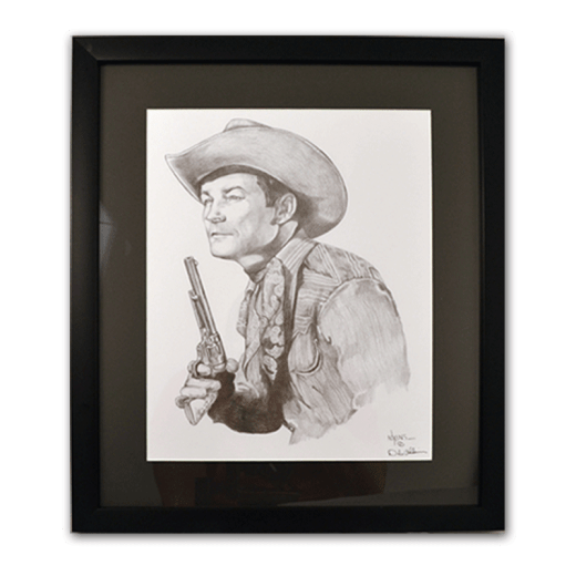 Framed poster of Roy Rogers.
