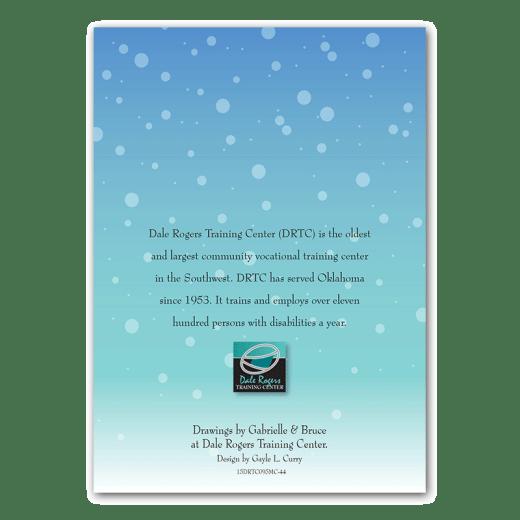 Back cover design of Santa Dog holiday card.