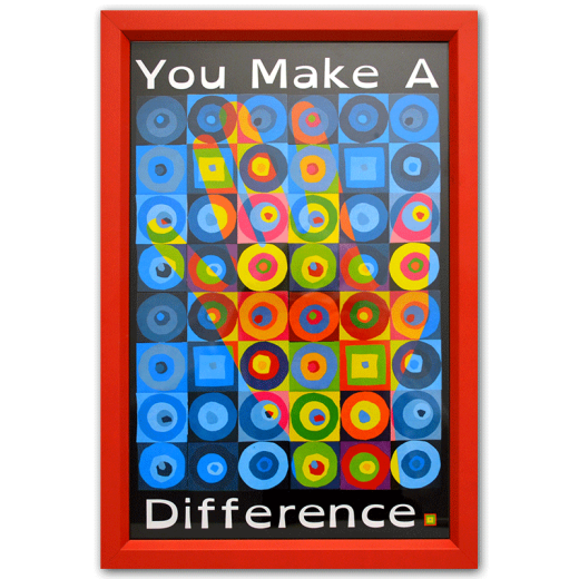 Framed You Make a Difference poster