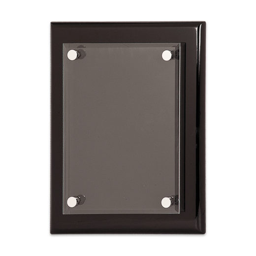 Blank Black Piano Finish Floating Plaque