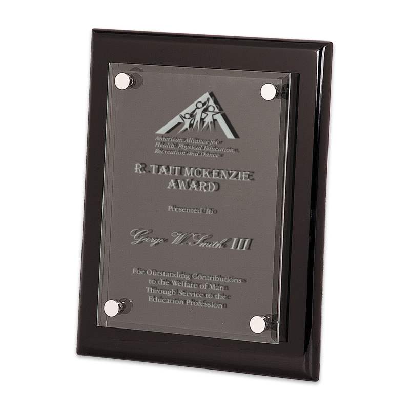 Black Piano Finish Floating Plaque | Dale Rogers Training ...