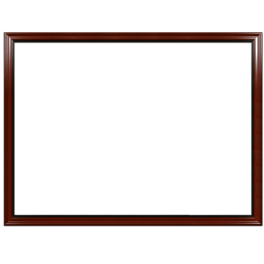 A mahogany with bead picture frame with no mat.