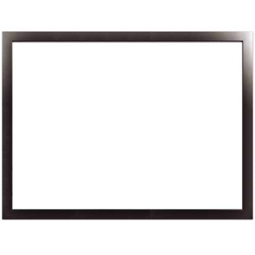 A smooth black picture frame with no mat.