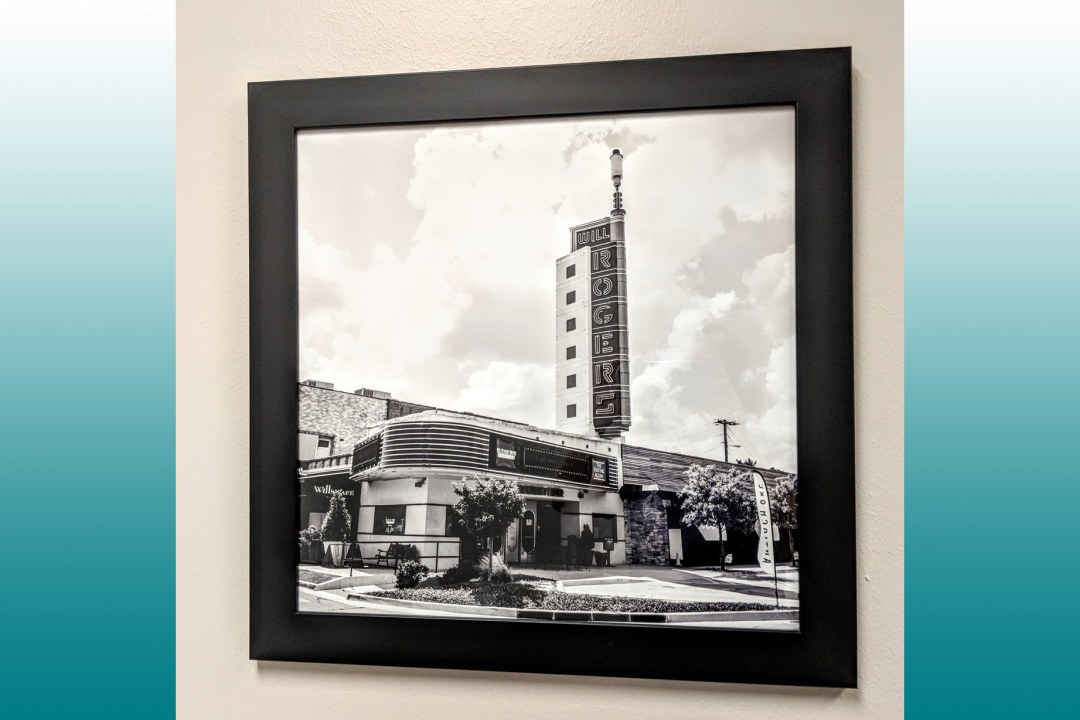 Framed image of Will Rogers Theatre.