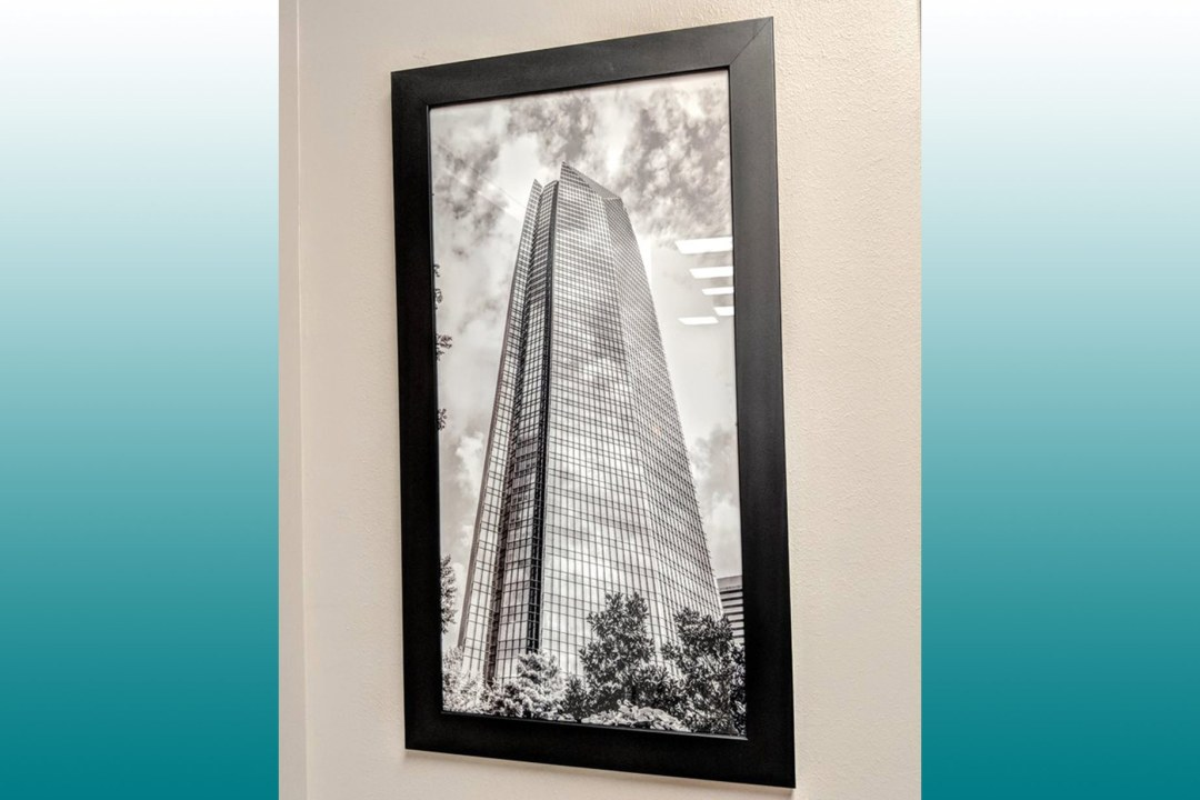 Framed image of Devon Tower.