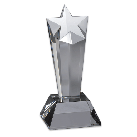 Blank Premier Star Crystal award.