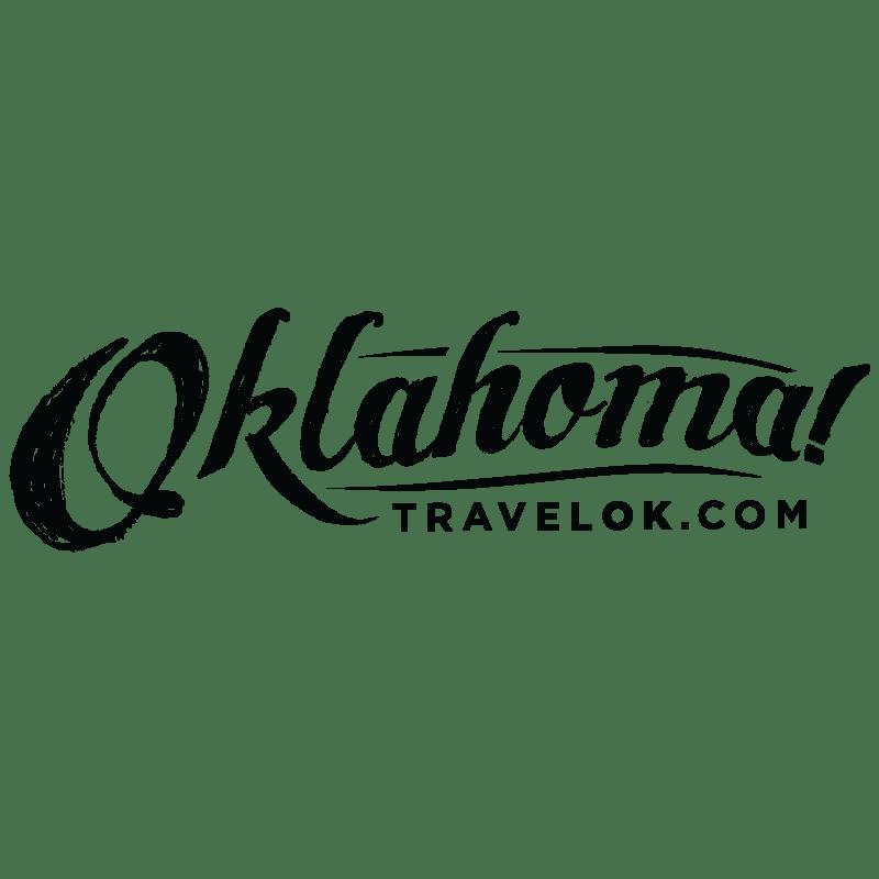 """Oklahoma Tourism Department logo. """"Oklahoma! TravelOK.com"""""""