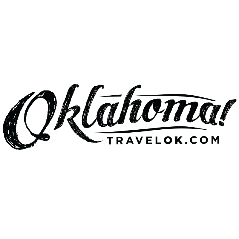 "Oklahoma Tourism Department logo. ""Oklahoma! TravelOK.com"""
