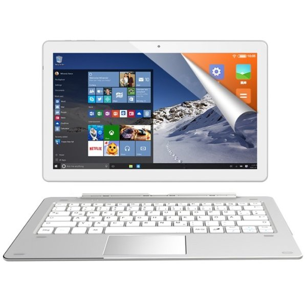 ALLDOCUBE iWork 10 Pro 2 in 1 Tablet PC with Keyboard 10.1 inch Windows 10 + Android 5.1 Dual OS Intel Atom x5-Z8350 Quad Core 1.44GHz 4GB RAM 64GB ROM HDMI Double Cameras 1