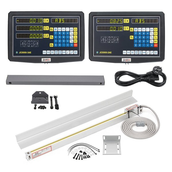 2/3 Axis Grating CNC Milling Digital Readout Display / 50-1000mm Electronic Linear Scale Lathe Tool 1