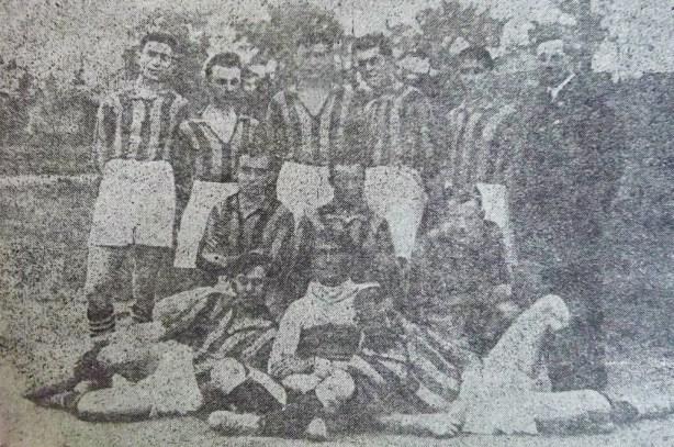 Echipa Sparta Unirea CFR în 1925, cu William Zombory și Șfefan Dobay în componență