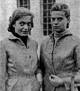 Surorile Edda și Ilse Buding, în 1954