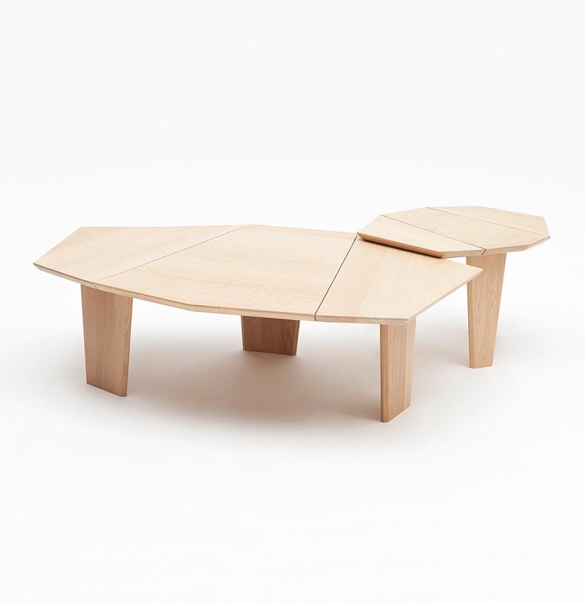 table basse silex