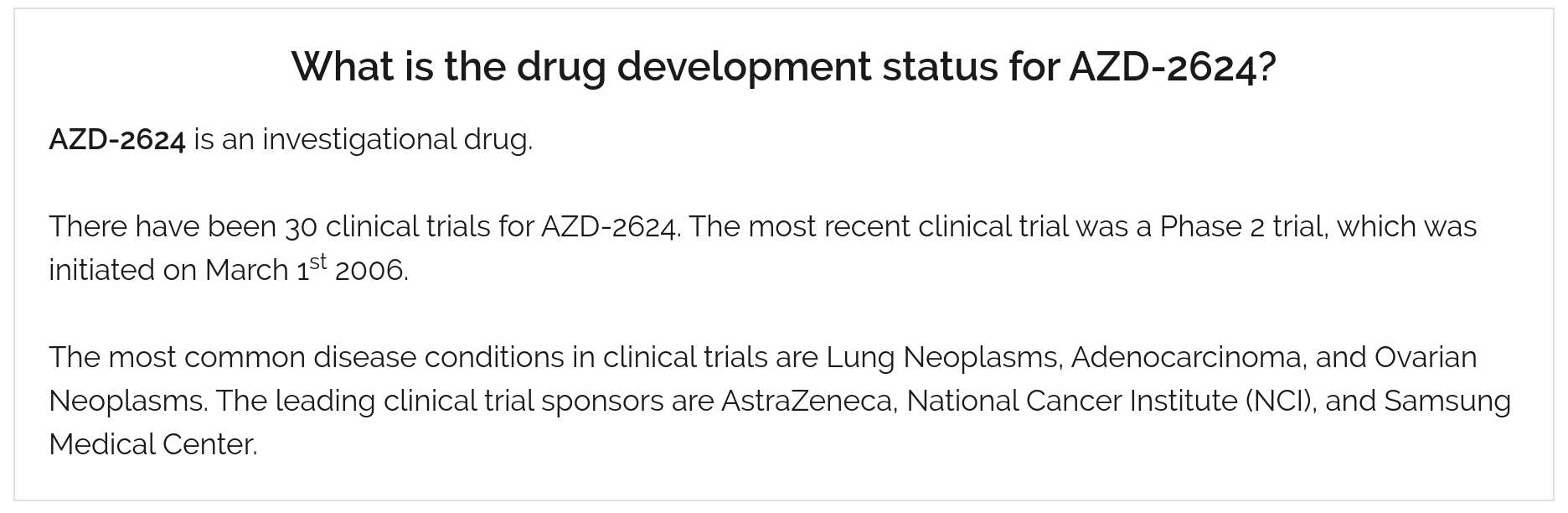 drugs in development