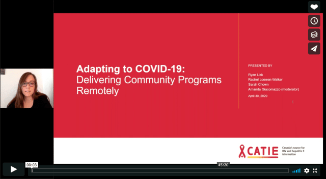 A screen grab in red of a webinar in progress