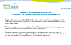 Vancouver Coastal Health letterhead with logo