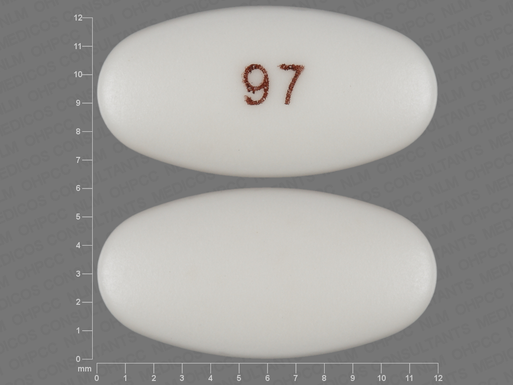 97 pill images white elliptical oval