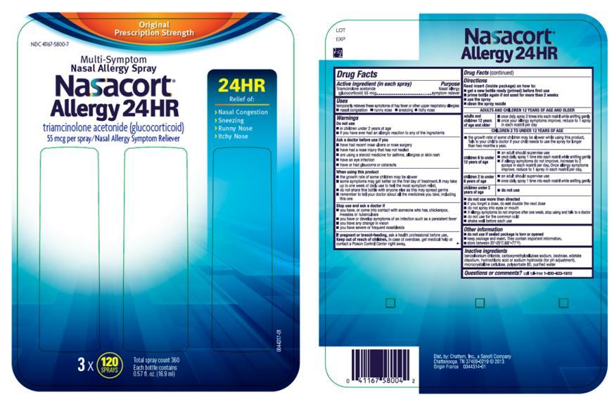 Nasacort Allergy 24HR (Chattem, Inc.) TRIAMCINOLONE ACETONIDE 55ug ...