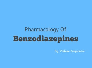 Pharmacology of Benzodiazepines