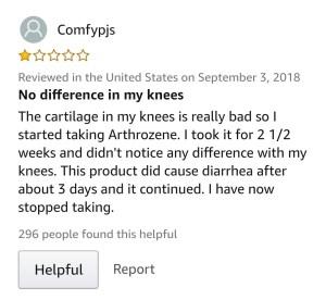 Arthrozene reviews