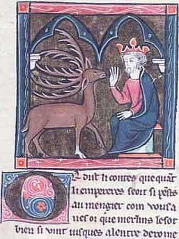 Merlin als Hirsch