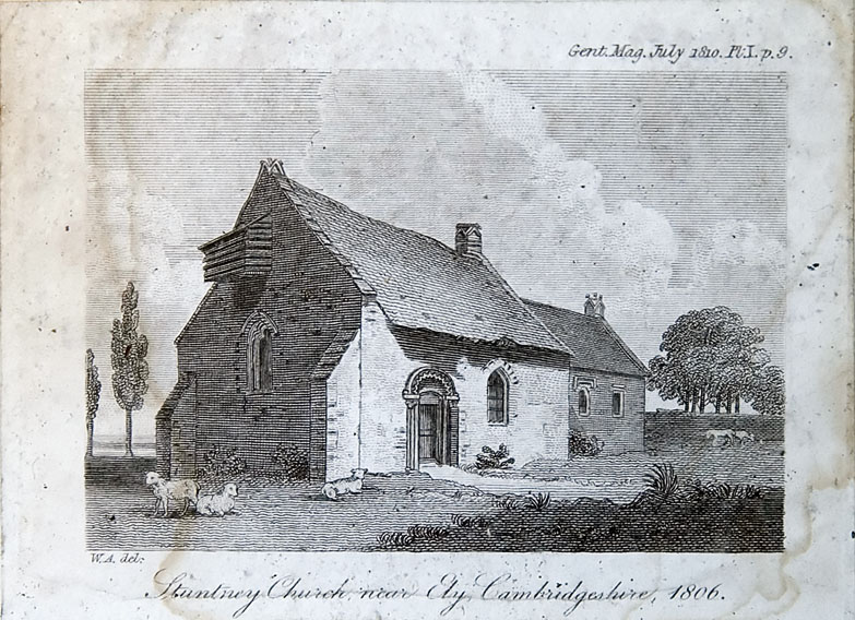 Illustration of Stuntney church, Cambridgeshire (1806)