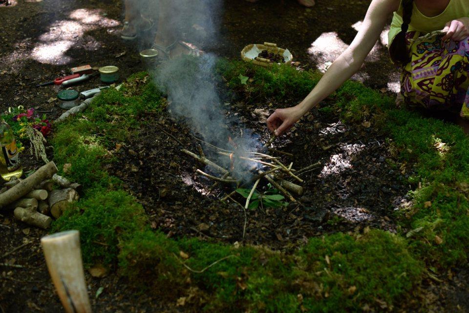 cérémonie druidique feu