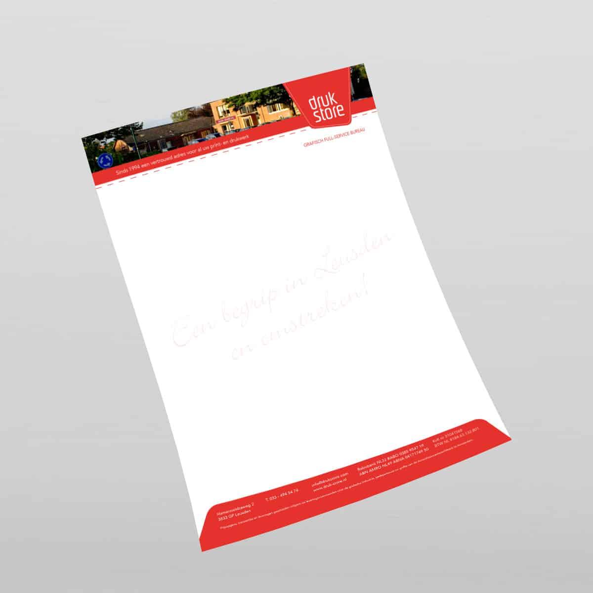 Briefpapier van druk-store