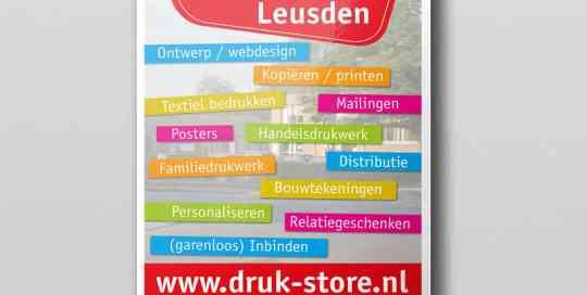 Poster voorbeeld van druk-store