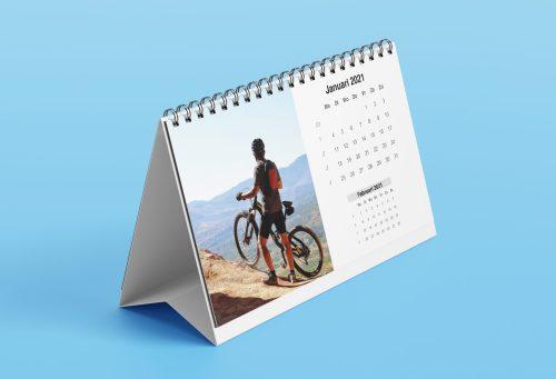 Mountainbike foto op bureaukalender