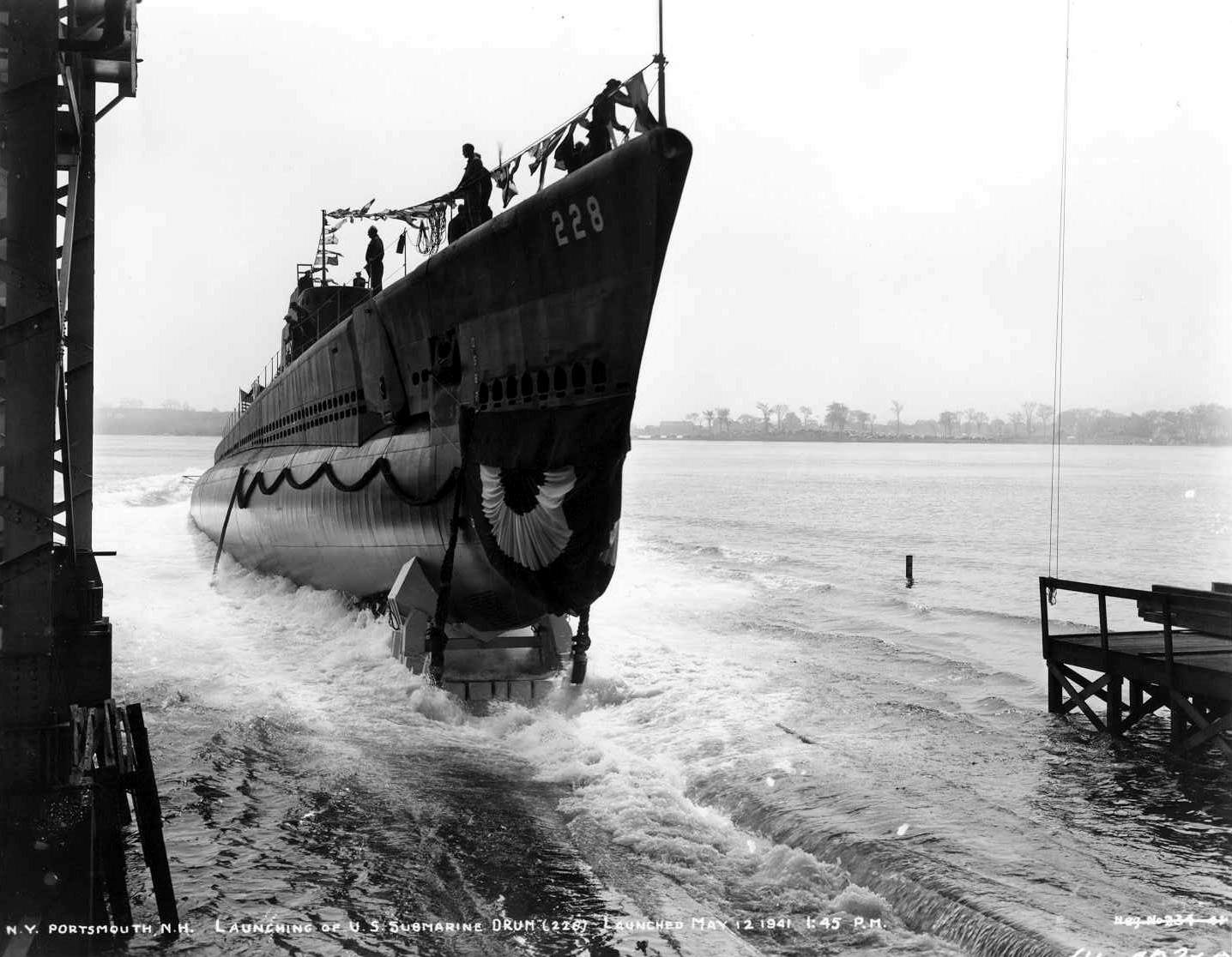 uss drum (ss-228) history