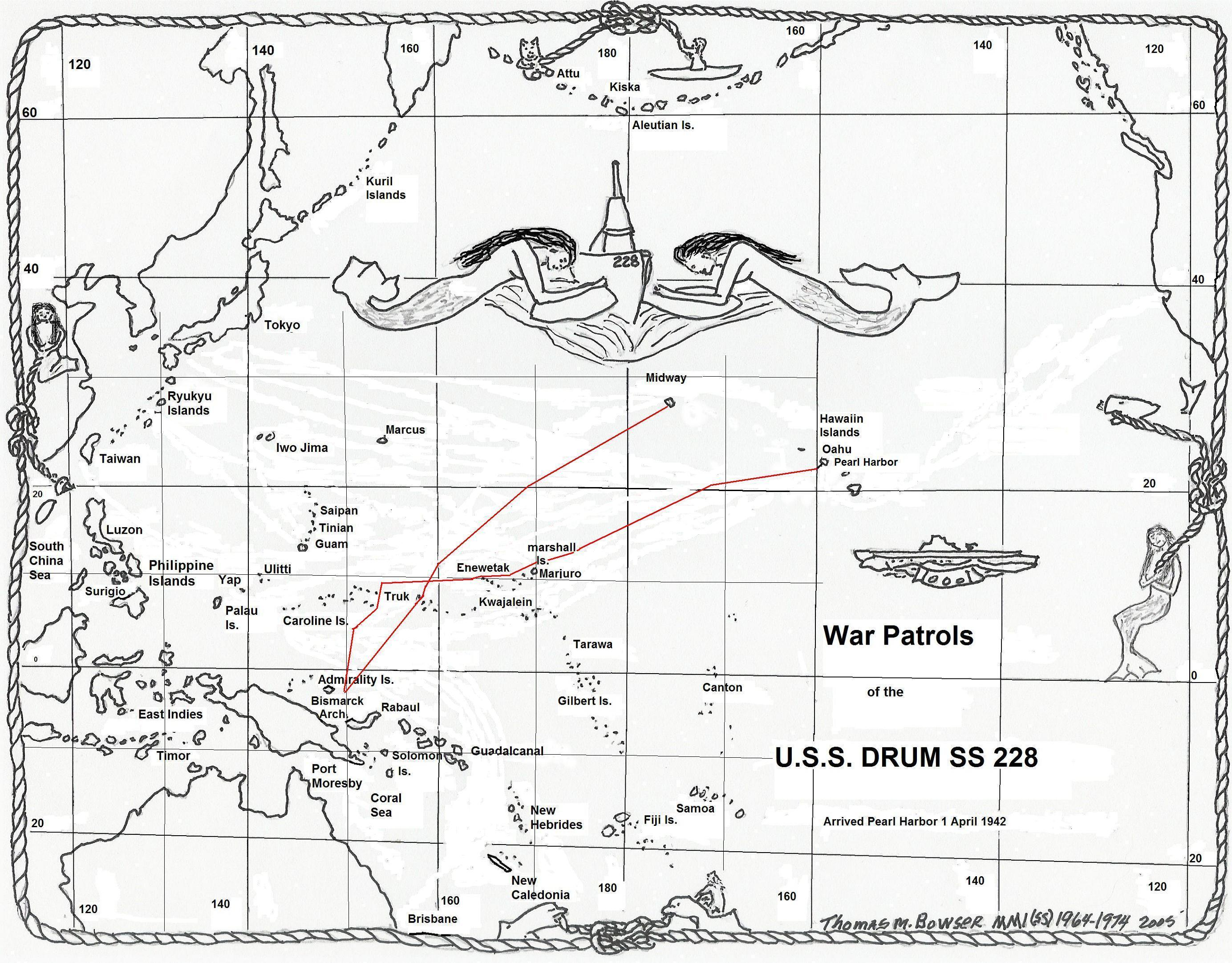 Uss Drum Ss 228 Second War Patrol