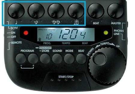 tama-rw200-volume-knobs