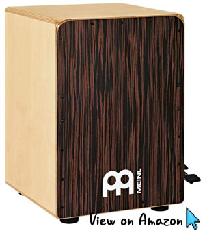 Meinl-Percussion-Ebony-Bass-Cajon-with-Snare-Pedal-JBC6EY