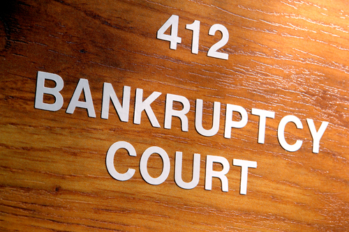 Bankruptcy Court Entrance Sign