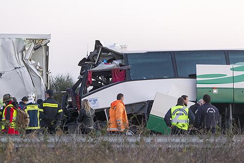 22 Injured in a Bus Crash this Morning in Las Vegas