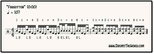Forgotten Drum Fill Notation (Chris Adler & Lamb Of God)