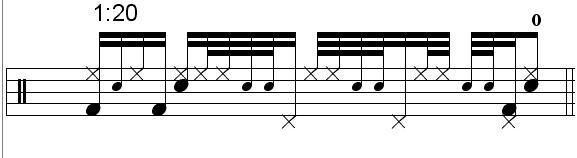 """Gavin Harrison"" - (Porcupine Tree) Drum Beat Video Drum Lesson Notation Chart Transcription Sheet Music Drum Lesson"