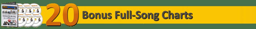20 Bonus Full-Song Drum Charts