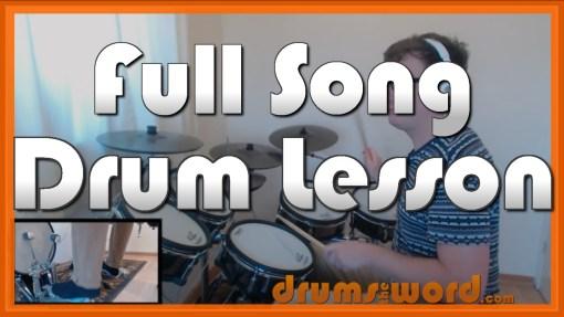 """Adams Song"" - (Blink 182) Full-Song Video Drum Lesson Notation Chart Transcription Sheet Music Drum Lesson"