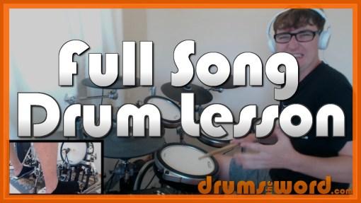 """""""Black Dog"""" - (Led Zeppelin) Full-Song Video Drum Lesson Notation Chart Transcription Sheet Music Drum Lesson"""