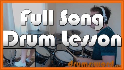 """Design For Life"" - (Manic Street Preachers) Full-Song Video Drum Lesson Notation Chart Transcription Sheet Music Drum Lesson"