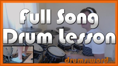"""Fix You"" - (Coldplay) Full-Song Video Drum Lesson Notation Chart Transcription Sheet Music Drum Lesson"