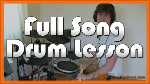 """Here Comes The Sun"" - (The Beatles) Full-Song Video Drum Lesson Notation Chart Transcription Sheet Music Drum Lesson"