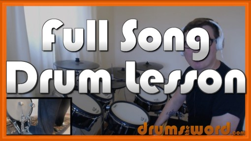 """Little Monster"" - (Royal Blood) Full-Song Video Drum Lesson Notation Chart Transcription Sheet Music Drum Lesson"