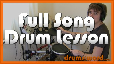 """Lounge Act"" - (Nirvana) Full-Song Video Drum Lesson Notation Chart Transcription Sheet Music Drum Lesson"